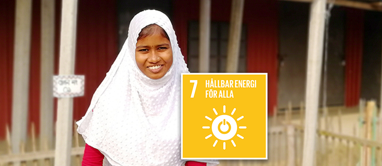Lektion om globala målet nummer 7 hållbar energi