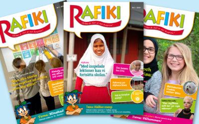 Rafikis tidningar med tillhörande lektioner