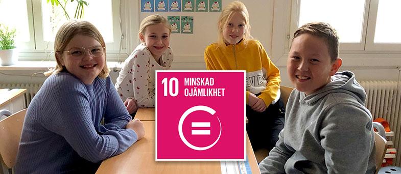 Lektion om Globala målen nummer 10 - minskad ojämlikhet