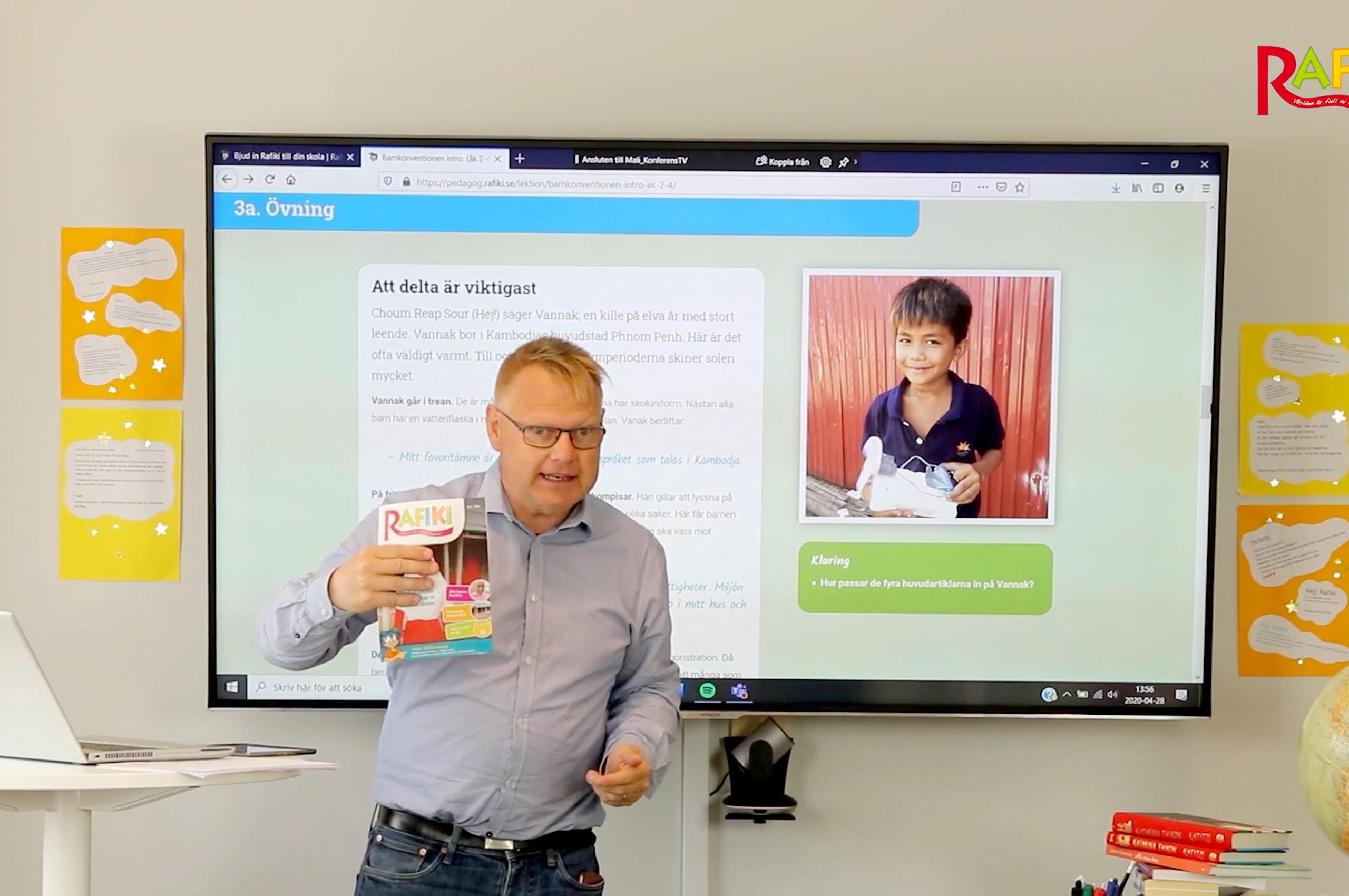 Håll e-lektionen direkt på storbild