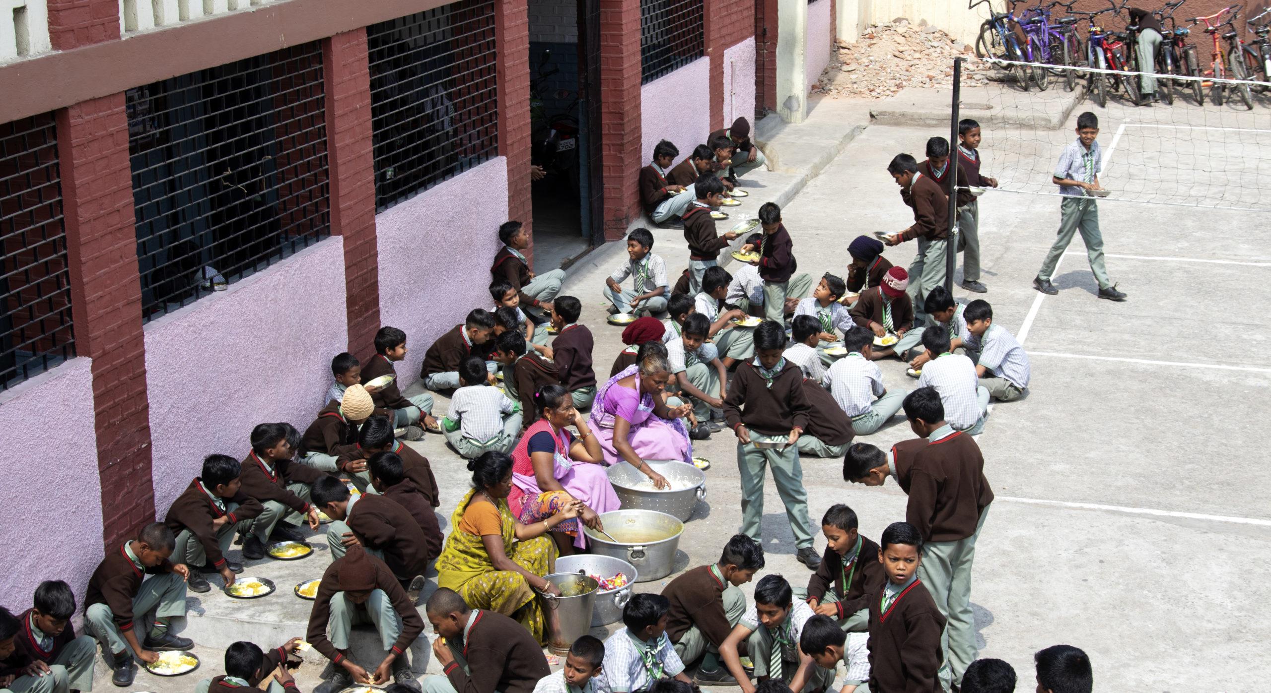 Skollunch i Indien