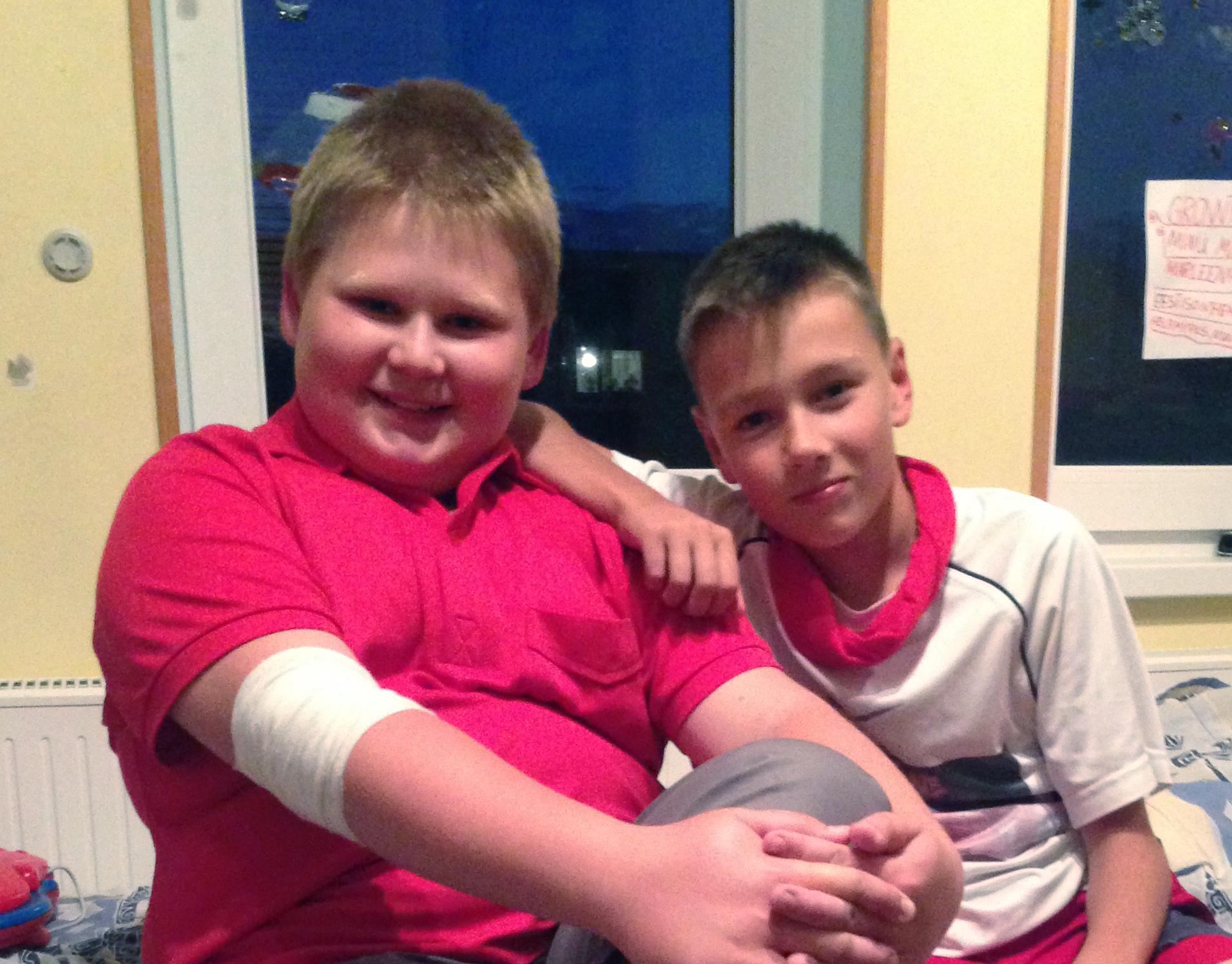 Marten och Andrei 11 år