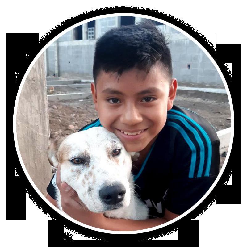 Cristian 12 år i Guatemala