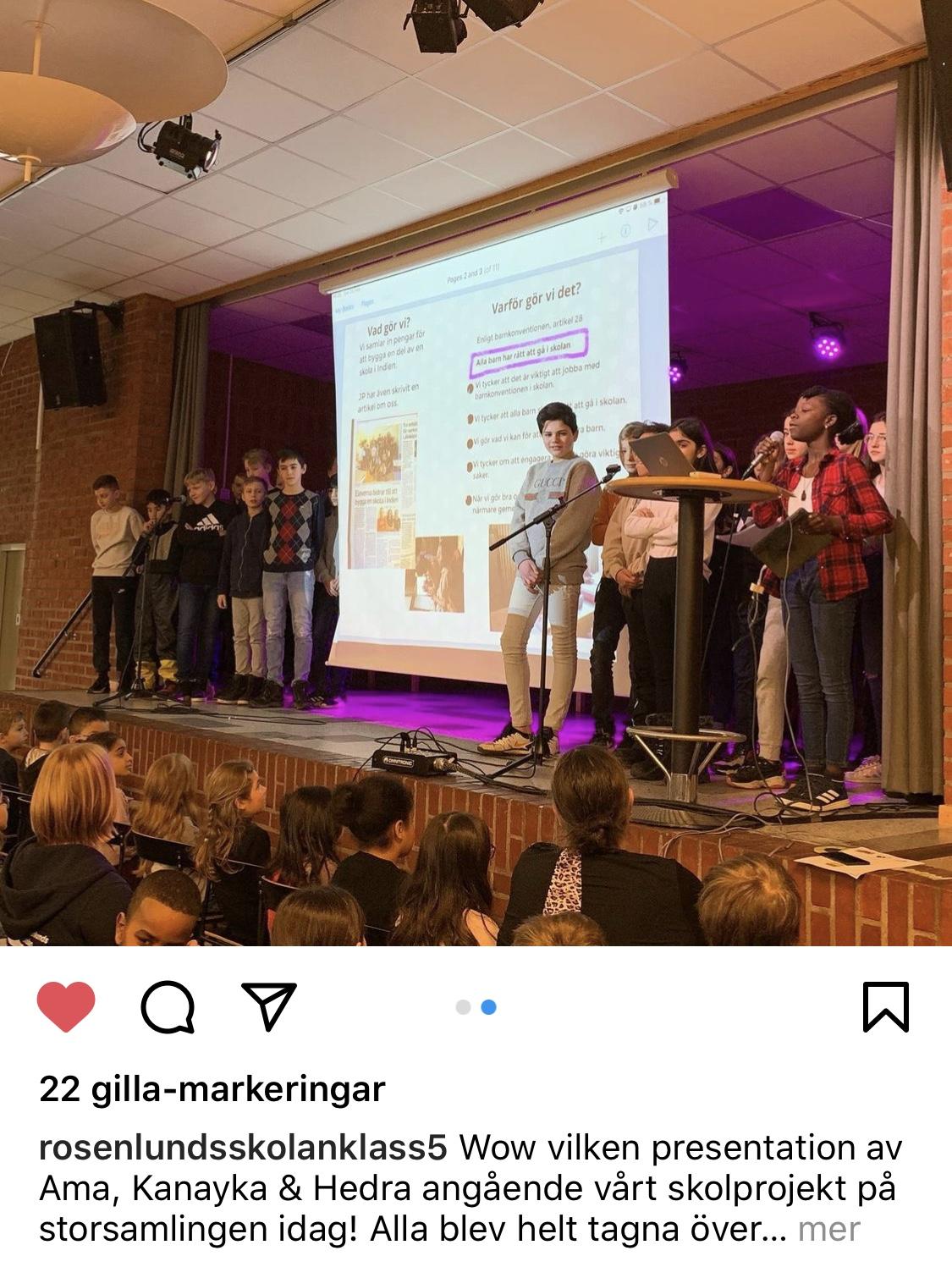Elever på Rosenlundsskolan berättar om allas rätt att gå i skolan och vad de gör för att det ska bli möjligt