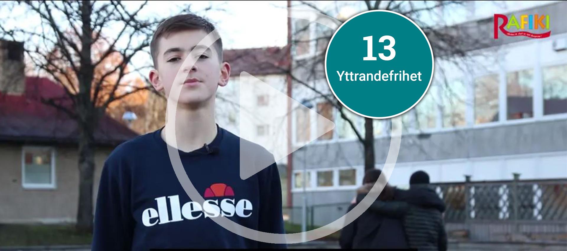 Lektion om barnkonventionen artikel 13 - rätt till yttrandefrihet